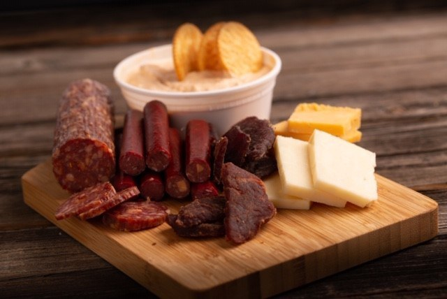Penn State Berkey Creamery now carries five flavors of salami, five flavors of beef jerky and three flavors of meat snack sticks, all made at the Penn State Meats Lab. Image: Michael Houtz