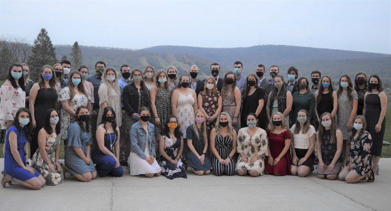 Members of the Penn State Dairy Science Club at its annual banquet, 2021.