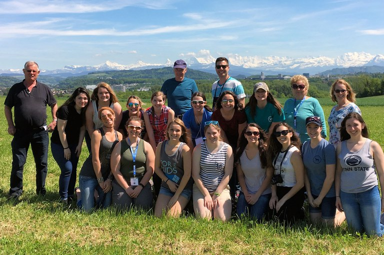 Students and faculty members who traveled to Switzerland for an intensive study of its agriculture, culture, history and people.