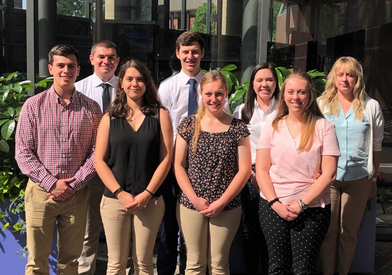 Students representing Penn State at ADSA-SAD meetings, from left: Bailey Winslow, Michael Morgan, Shoshana Brody, Daniel Kitchen, Kelly MacRae, Sydney Jewell and Kelly Forbes.