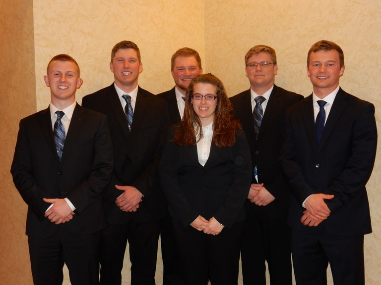 From left: Matthew Leise, Chase Cashell, Toni Smith (front), Reuben Hicks, Alton Rudgers and Josh Brubaker.